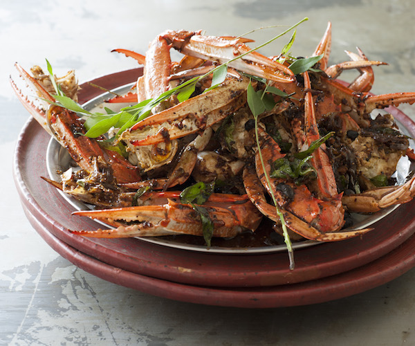 East curry leaf and pepper crab
