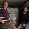 Luke Lomax and Steve Johnson of Devil's Cave Vineyard