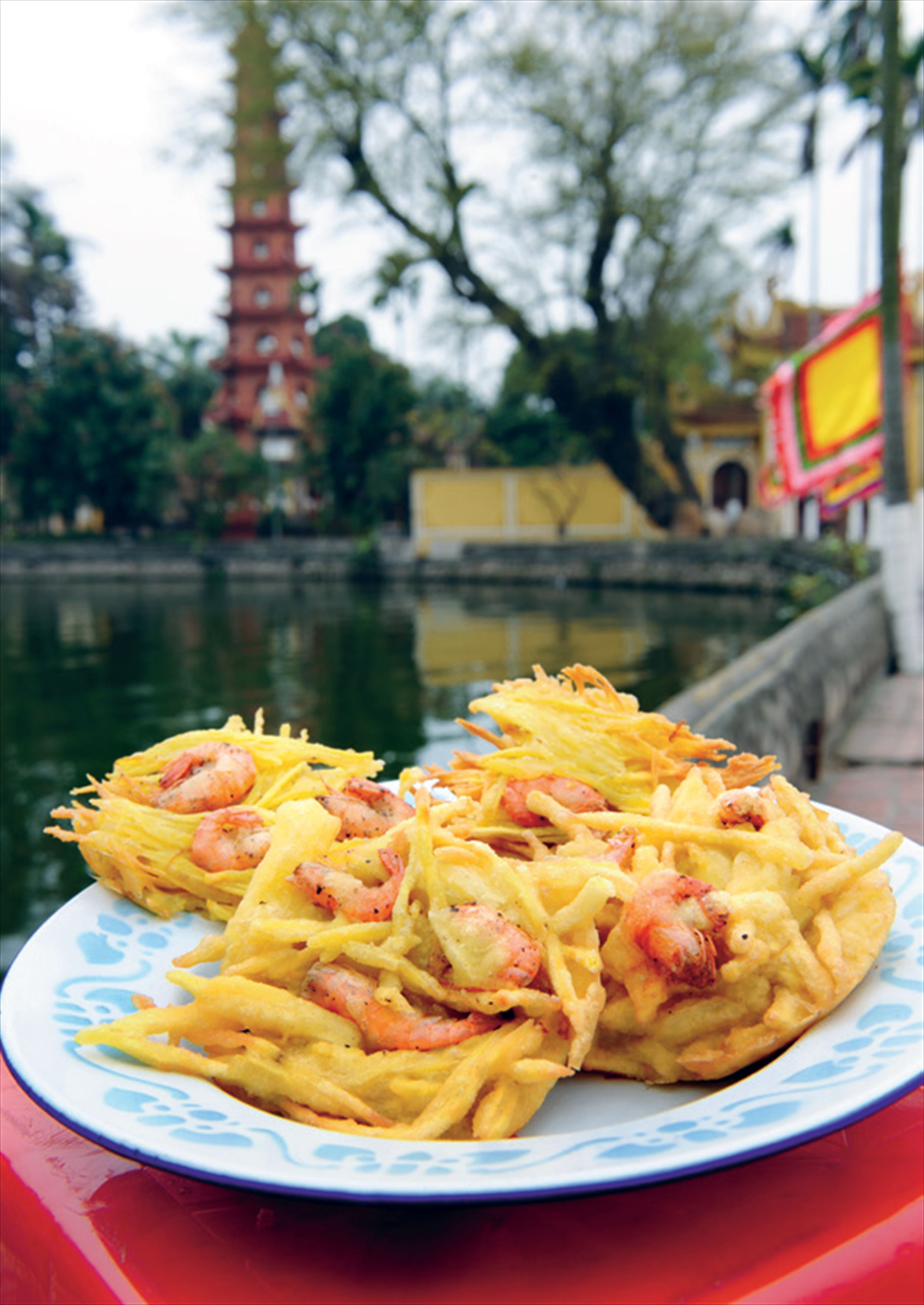 West Lake prawn cakes